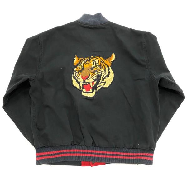 90s POLO SPORTS Tiger Head Varsity Jacket Black